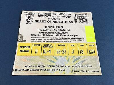 Hearts V Rangers Scottish Cup Final Ticket 1996