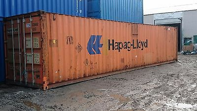 40FT x 8FT STEEL STORAGE SHIPPING CONTAINER TO HIRE - LANCASHIRE