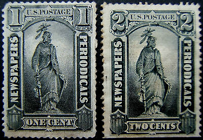Newspaper Stamps (20) face vals to $60 - BUT only 3 are real 17 are FACSIMILES!