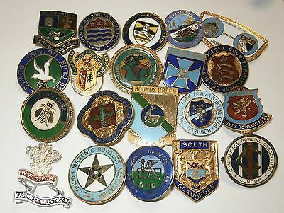 Collection of 20 UK Bowling Association Bowling Club Enamel Badges Bowls Lot 5
