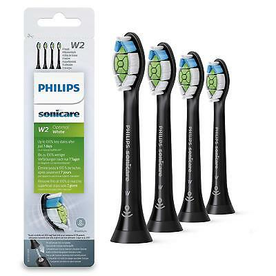 4 Philips Sonicare Diamond Clean Bürstenköpfe Aufsätze Optimal White W2  schwarz
