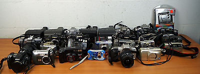 Mixed Lot of (30) Random Cameras FOR PARTS OR REPAIR ONLY Vintage to Digital