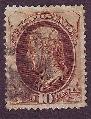 United States (1) 1870,  Ten Cents,  Brown , Used, Scott N° 150