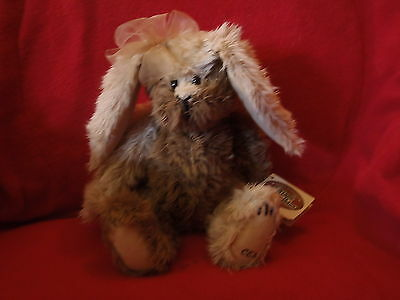"COTTAGE COLLECTIBLES by GANZ ""PUZZLE"" 12"" ADORABLE HARE SIGNED PAW PAD  CEK NWT"