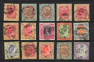 INDIA , 15 x stamps fine used