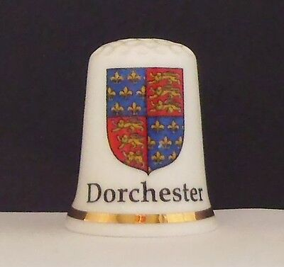 Dorcester  Devon    ( Bone  China ) Thimble