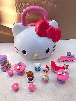 Hello Kitty Open Up Playset with Figures & Accessories as pictured Toy Carry