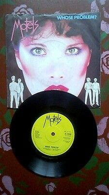 Motels.Whose Problem?.7in vinyl single on Capitol 1980