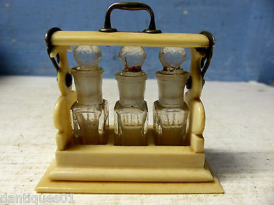 Very Unusual Novelty Early Miniature Tantalus Perfume Bottle Holder - Very Rare