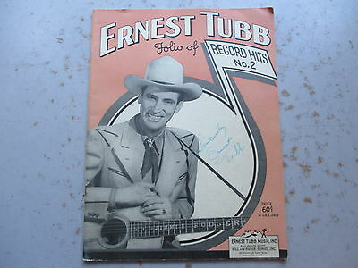 Ernest Tubb Folio of Record Hits No. 2, 1950 Music Booklet, SIGNED by TUBB
