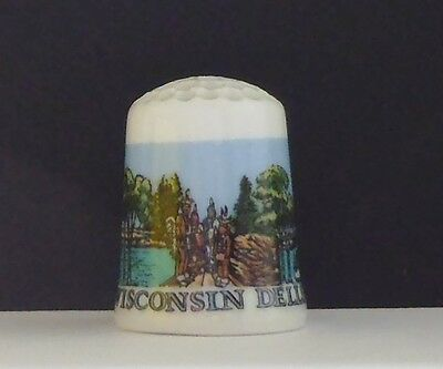Wisconsin  Dells  Water  Park   ( Not Bone  China ) Thimble