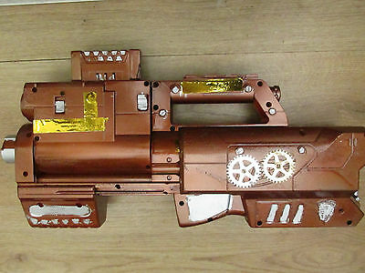 STEAMPUNK adapted nerf gun folding with clip impressive larp cosplay MAD LAB