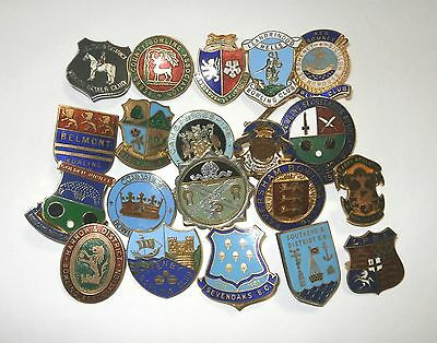 Collection of 20 UK Bowling Association Bowling Club Enamel Badges Bowls Lot 7