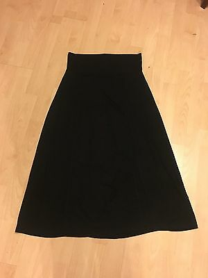 MODA MATERNITY Gorgeous Black Jersey Calf Length Skirt 14 SUPERB CONDITION
