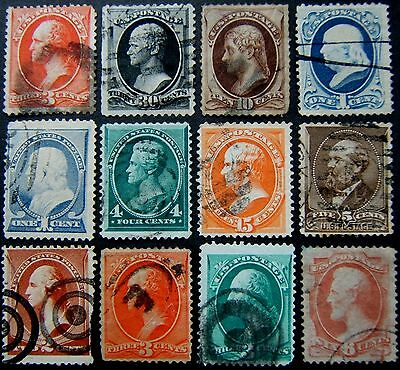 USA. 1851 - 1888 duplicated 19th cent issues (x83) DAMAGED. SPACEFILLERS only.