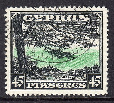 Cyprus KGV 1934  45pi Green & Black (Forest Scene, Troodos) SG143 Used