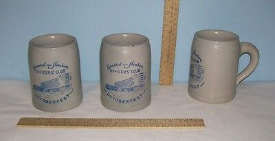 3 STEINS / MUGS - General von Steuben OFFICERS' CLUB - OKTOBERFEST - Made in Ger