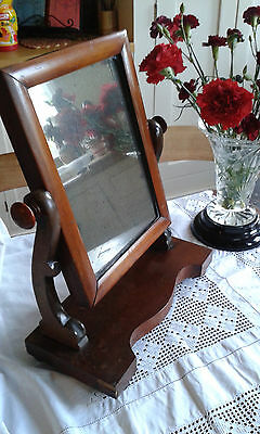 Charming small antique swivel mirror, vanity mirror, dressing table. Edwardian