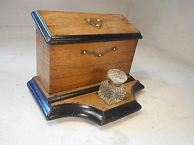 Antique Desktop Tidy , Inkwell Stand , Letter Rack  ,   ref 2074