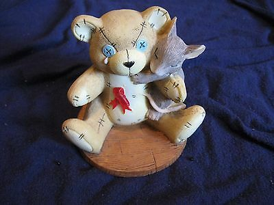 Charming Tails Fitz And Floyd You Are Not Alone Cancer Teddy Bear Figurine