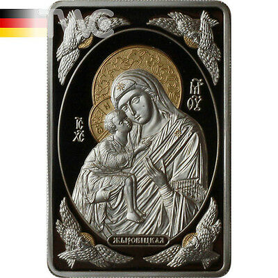 Belarus 2011 20 rubles Icon of the Most Holy Theotokos of Zhirovichy Proof Ag
