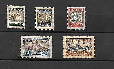 Estonia Stamps  1927  Complete Set 5  M/h Liberation War Fund