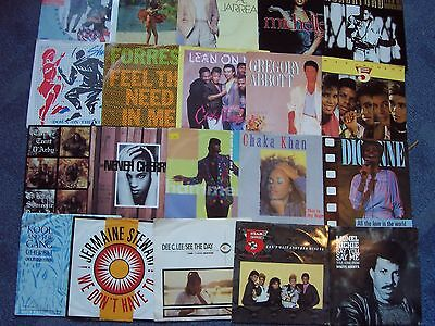Decent Lot  20 X R&b, Soul & Disco Singles, All Picture Sleeves. Bargain Price