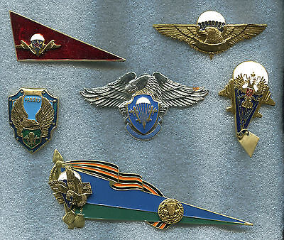 Russia Military Aviation Airborn Troops VDV 6 Badges w Parachutes