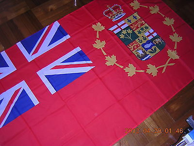 100% New Reproduced British Empire Flag Canada 1870 Red Ensign 3X5ft GB UK EIIR