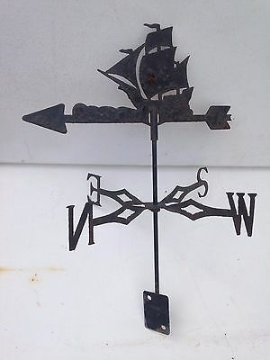 Antique Vintage Rustic Metal Ship Galleon Tall Ship Weathervane Wind Vane