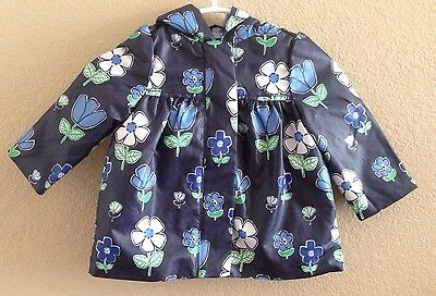 Nwt! Gymboree Girls Size 12-24 Months Spring Prep Floral Hooded Raincoat A