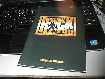 Queen We Will Rock You The Musical Official Programme + Official Promo Card