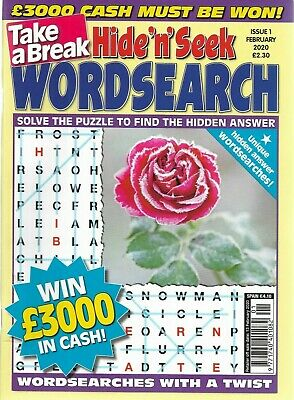2 Take A Break Word Search Magazines Lots Of Puzzles Solutions In Back Free P/p