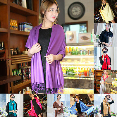 Fashion Women Winter Warm Scarf Pashmina Silk Long Shawl Large Wrap US