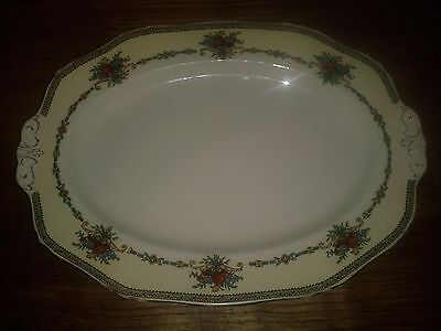 """Alfred Meakin Platter Harmony Shape Floral Roses 12.5"""" Length"""