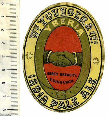 SCOTTISH BEER LABEL - Wm YOUNGER & CO, ABBEY BREWERY, EDINBURGH - YBERIA IPA