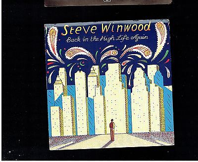 Stevie Winwood Back In The High Life Again Ps 45 1986
