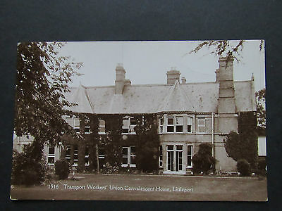 Old Postcard TRANSPORT WORKERS' UNION CONVALESCENT HOME Littleport.1925. 1516
