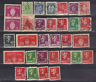Norway- Lot Of Early Used Stamps (12NO)