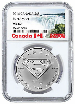 2016 Canada $5 1 oz. Silver Superman NGC MS69 (Exclusive Canada Label) SKU45086