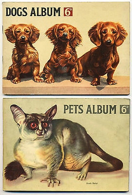 2 HORNIMANS TEA CARD ALBUMS PETS and DOGS PLUS AN ASSORTMENT OF CARDS