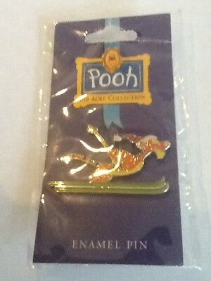 Disney Tigger Skiing Pin 100 Acre Collection Enamel Pin ( Pooh ) New on Card