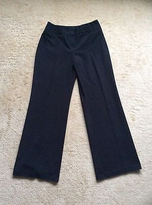 ladies marks & spencer black trousers size 10 vgc