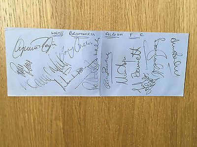 Superb West Bromwich Albion signed autograph book pages 12 signatures 1980