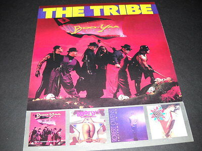 BOO-YAA TRIBE is The Tribe 1990 Promo Display Ad mint condition