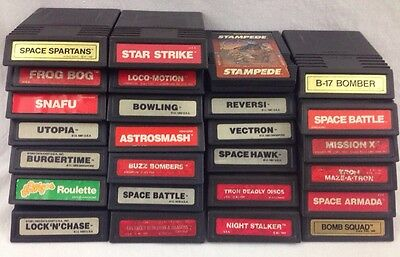 Intellivision 26 video game lot vintage games cartridges