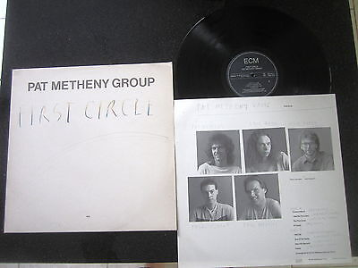 """Pat Metheny Group """"first Circle"""" Orig 1984 Ecm West Germany Press + Insert"""