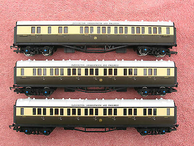 Hornby: Set Of Three Gwr Collett Coaches - Composite & Brake - Excellent