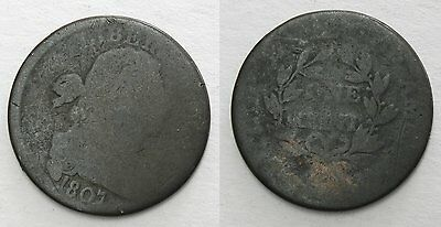 1807 Draped Bust Large Cent, Fair, Small Blunt 1