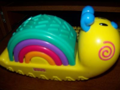 Fisher Price Stacking   Baby Toy Snail Look